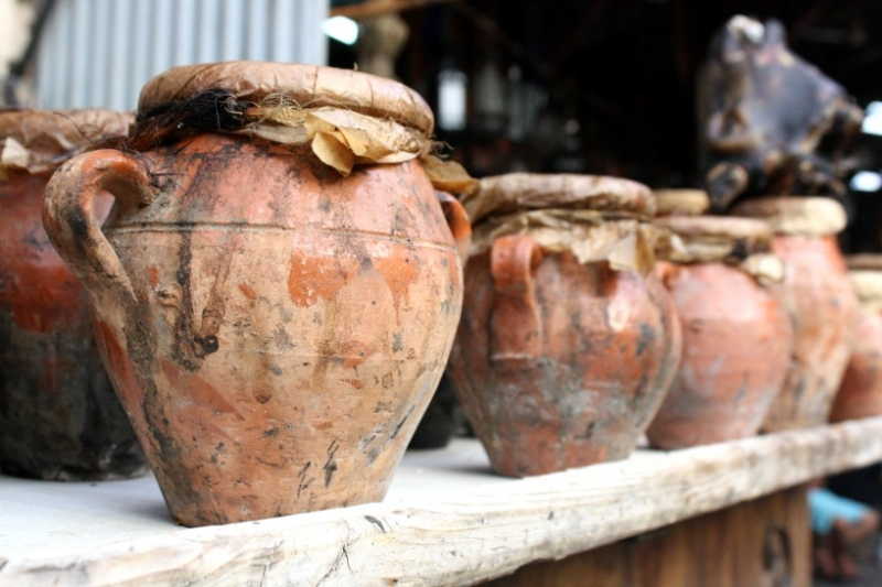 Tangia urns in Marrakech