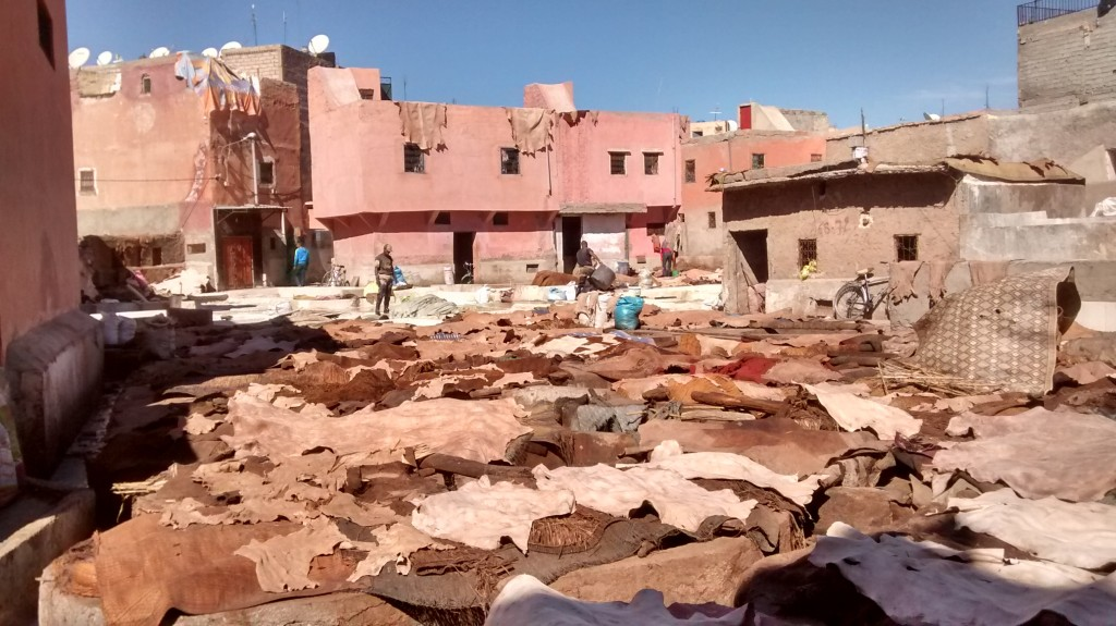 Leather tanneries Marrakech